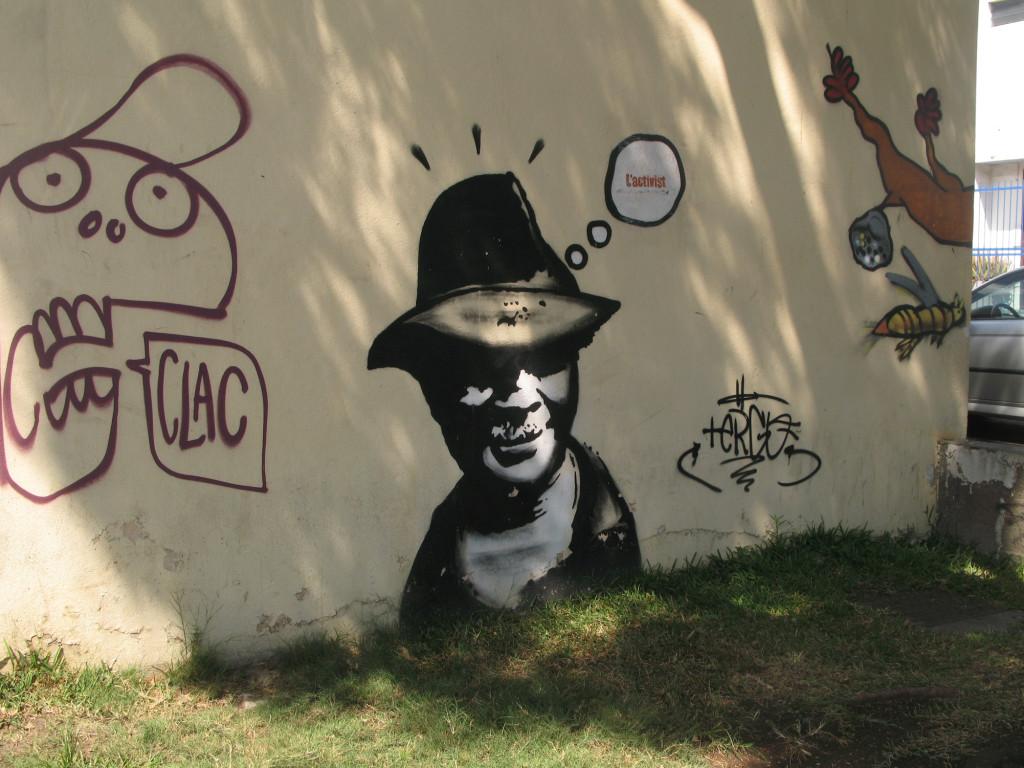 Graffiti dans les rues de Saint-Paul à La Réunion
