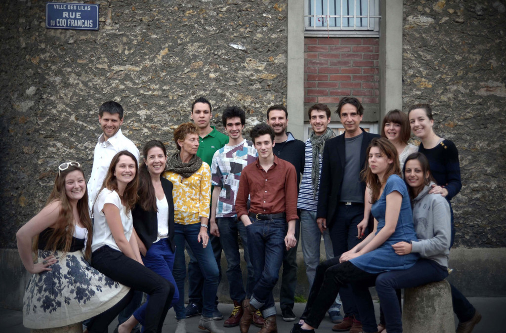 La Maille Armel Veilhan avec les comédiens en atelier